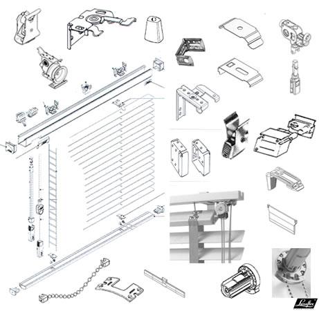 Luxaflex vouwgordijnen onderdelen